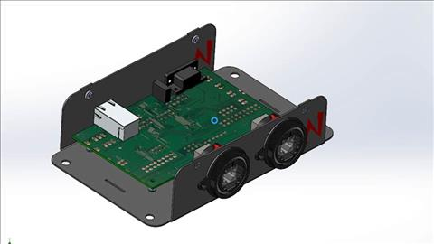course illustration for Sheet Metal with SOLIDWORKS: Enclosure Design Project