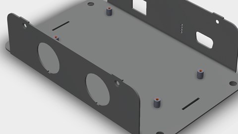 course illustration for Designing a Sheet Metal Enclosure with SOLIDWORKS