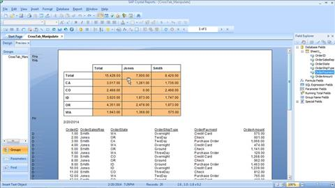 Crystal Reports - Online Courses, Classes, Training