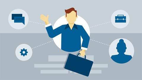 course illustration for LinkedIn for Business