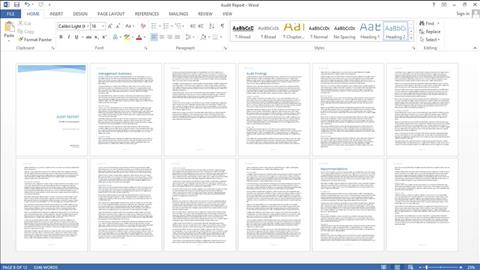 course illustration for Word 2013: Creating Long Documents