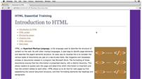 Image for HTML Essential Training
