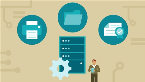 course illustration for Windows Server 2012: Configure Basic Microsoft Services