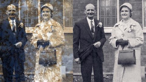 course illustration for Photo Restoration: Damaged Black-and-White Images