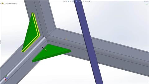 course illustration for SOLIDWORKS: Weldments