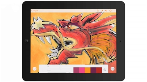 course illustration for Drawing on the iPad with Adobe Illustrator Line