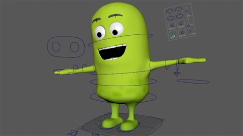 course illustration for Rigging a Cartoon Character in Maya