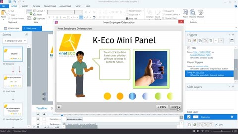 course illustration for Up and Running with Articulate Storyline 2
