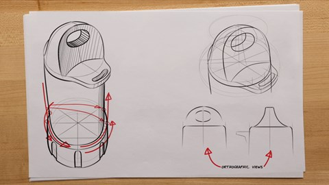course illustration for Sketching for Product Design and AEC