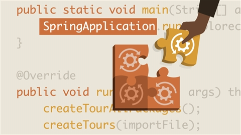 course illustration for Creating Your First Spring Boot Microservice