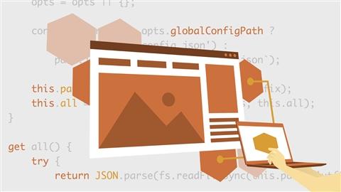 course illustration for Building a Website with Node.js and Express.js