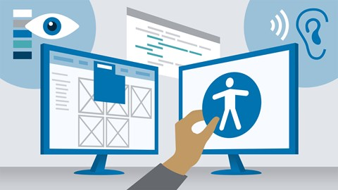 course illustration for WordPress: Accessibility