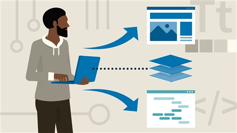 course illustration for Succeeding in Web Development: Full Stack and Front End