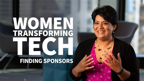 course illustration for Women Transforming Tech: Finding Sponsors