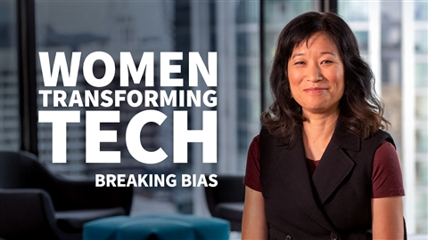course illustration for Women Transforming Tech: Breaking Bias