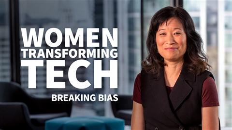 course illustration for Women Transforming Tech: Breaking Bias