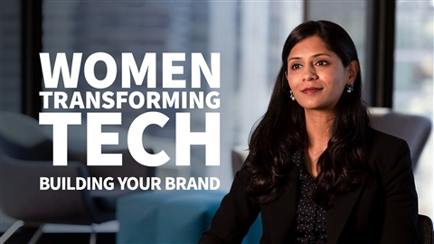 course illustration for Women Transforming Tech: Building Your Brand
