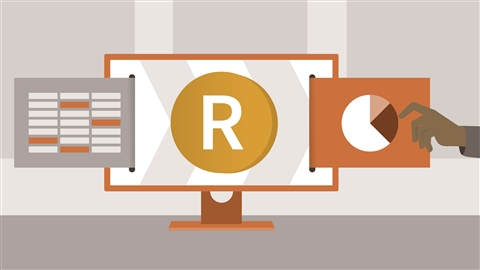 course illustration for Learning R