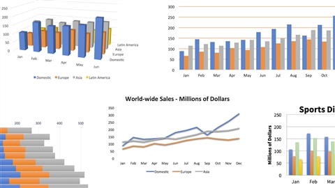 course illustration for Excel: Charts in Depth