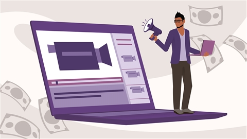 course illustration for Marketing and Monetizing on YouTube
