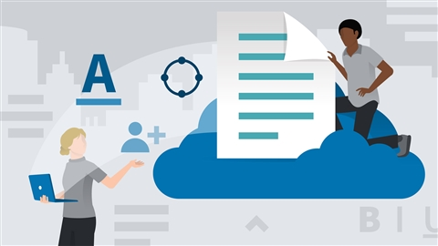 course illustration for Learning Word for the web (Office 365/Microsoft 365)