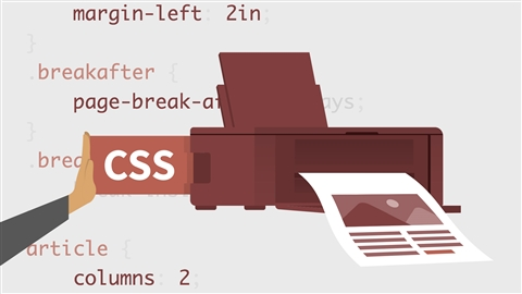 course illustration for CSS: Print Style Sheets