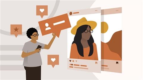 course illustration for Marketing on Instagram