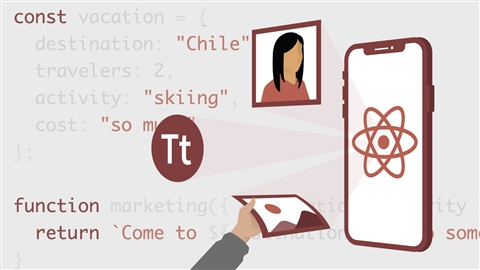 course illustration for React Native Essential Training
