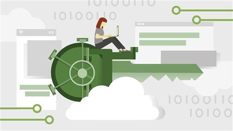 course illustration for Microsoft Azure Security Technologies (AZ-500) Cert Prep: 5 Data at Rest, App Security, and Key Vault