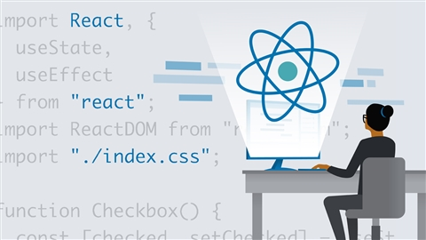 course illustration for Learning React.js