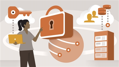 course illustration for Microsoft Azure Security Technologies (AZ-500) Cert Prep: 4 Policy and Data Infrastructure