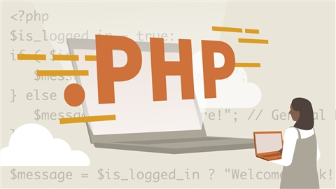 course illustration for Learning PHP