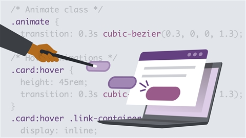 course illustration for CSS: Enhancing Interfaces with Animation