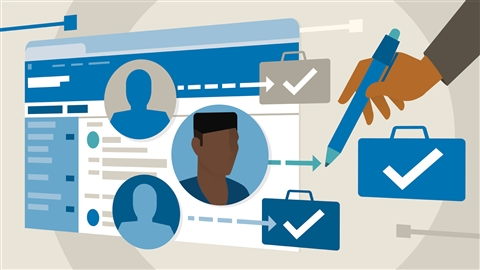 course illustration for Learning LinkedIn Recruiter