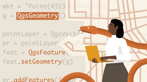 course illustration for QGIS and Python for AEC
