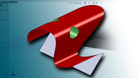 course illustration for Surfacing with SOLIDWORKS