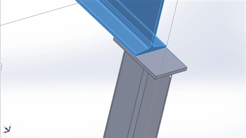 course illustration for Steel Building Design with SOLIDWORKS Weldments