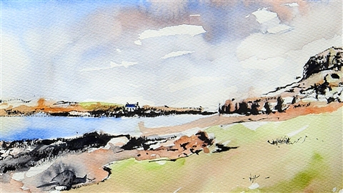 course illustration for Drawing Foundations: Sketching the Landscape