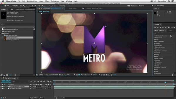 Creating Flying Logos with After Effects and Cinema 4D Lite