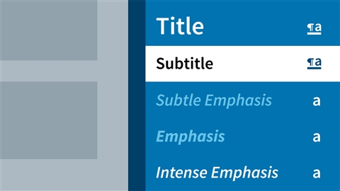 course illustration for Word 2013: Styles in Depth