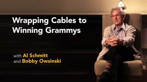 course illustration for Al Schmitt with Bobby Owsinski: Wrapping Cables to Winning Grammys