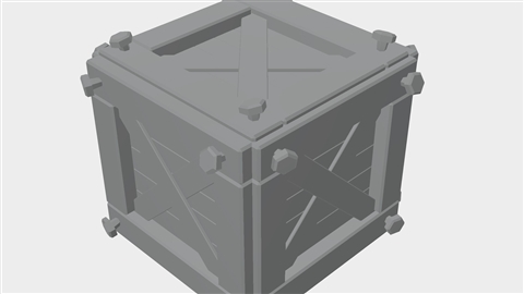 course illustration for Creating a Stylized Wooden Crate Game Asset