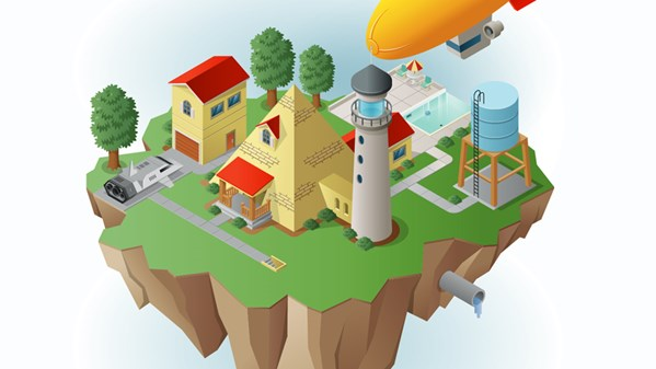 Drawing Vector Graphics Isometric Illustration