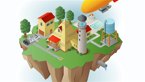 course illustration for Drawing Vector Graphics: Isometric Illustration