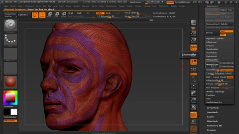 course illustration for Managing Edge Flow in ZBrush