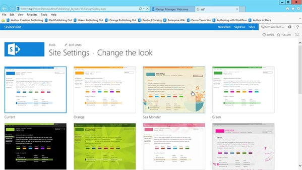 Publishing sites with sharepoint 2013 for Sharepoint 2013 product catalog site template