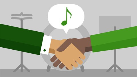 course illustration for Music Law: Managing a Band's Business