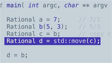 course illustration for C++: Move Semantics