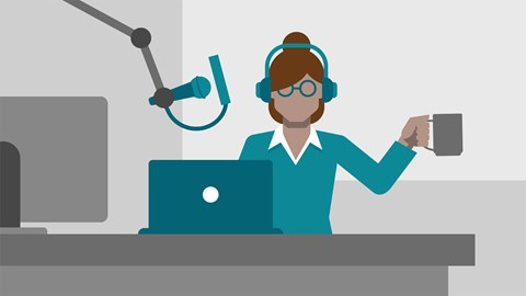 course illustration for Content Marketing: Podcasts and Audio