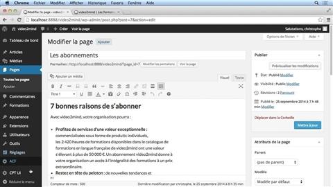 course illustration for WordPress : La création de contenu personnalisé